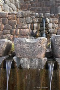 Ancient Incan fountains outside of Cusco.